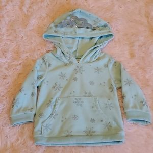 ❄Carters sparkly snowflake hoody 12 mo